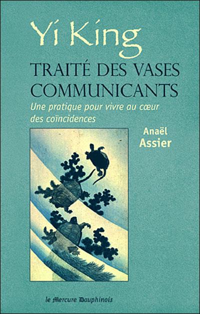 Couverture de l'ouvrage d'Anaël Assier sur le Yi King. Des tortues s'ébattent dans l'onde. Hokusai